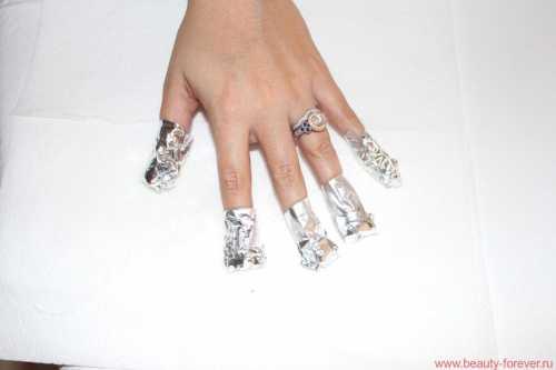 фольга для ногтей: виды, правила использования